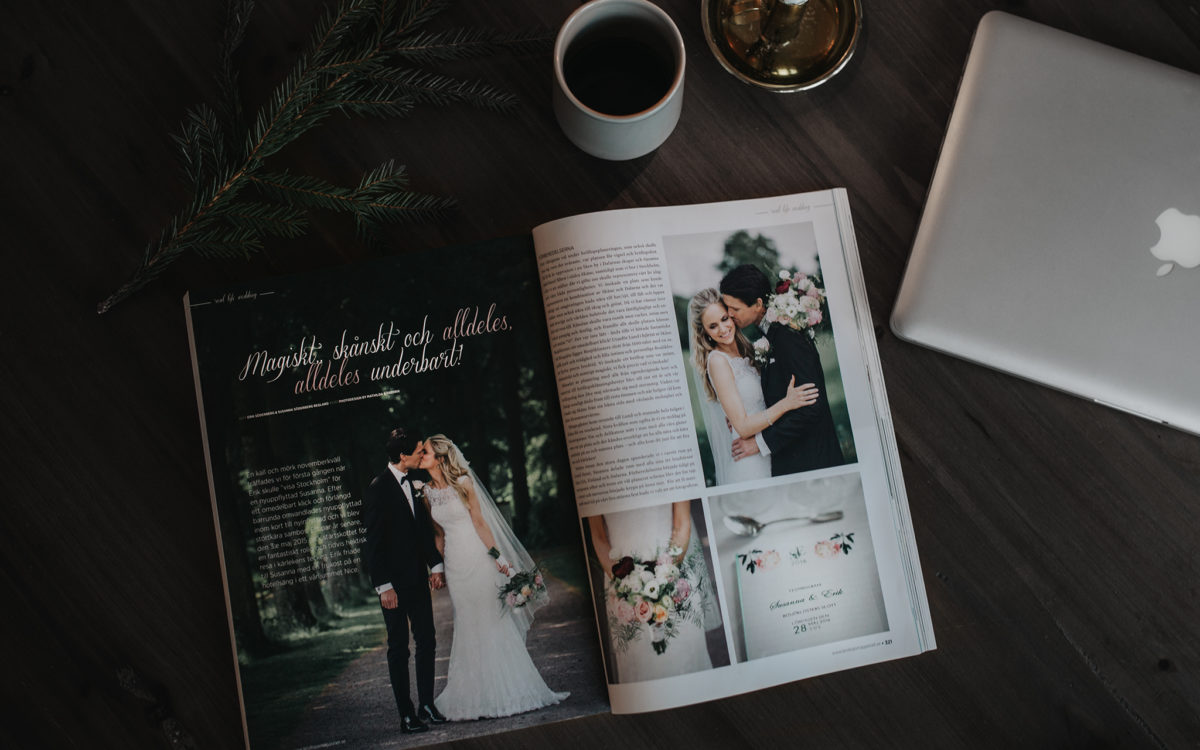 Publicerade i Bröllopsmagasinet