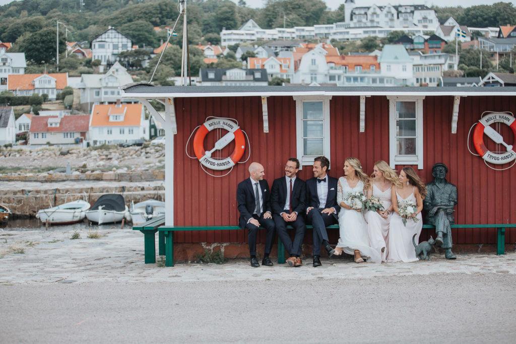 Bröllop på Bläsinge gård Mölle hamn