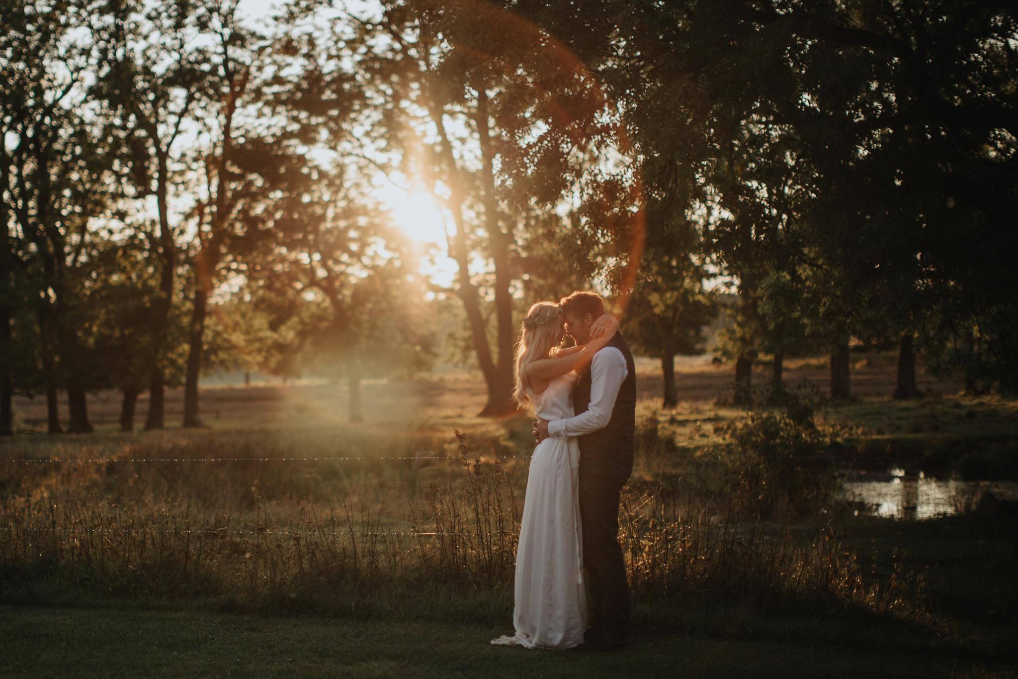 Fotografering i Golden Hour Bröllopsfotograf